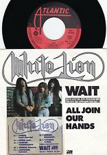 White Lion ORIG GER PS 45 Wait NM '87 With German Tour dates Hard Rock Hair meta