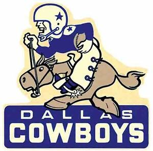DALLAS COWBOYS  NFL Football    Vintage Style 1960's  Travel Decal Sticker Label