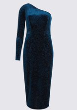 M&S COLLECTION Velvet Sparkle Bodycon Midi Dress   PRP £55