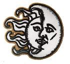 Wappen Flicken Mond & Sonne Zum Aufbügeln Auflagen Flicken DIY Bestickt