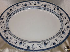 "ROYAL DOULTON TC1017 CAMBRIDGE 13"" OVAL SERVING PLATTER BLUE FLOWERS & BLUE BAND"