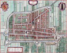Reproduction plan ancien de Delft 1649