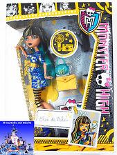 Monster High Bambola CLEO DE NILE 30cm LOOK DA GIORNO by Mattel Barbie nuovo