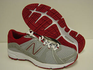 NEW Womens Sz 6 D WIDE New Balance 490 SR1 Silver Red Sneakers Shoes