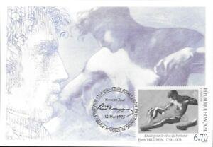 CARTE MAXIMUM - FRANCE -  PIERRE PRUD HON- 1995 PREMIER JOUR