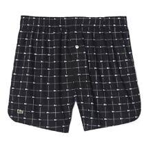 723f9627e Lacoste Men s Black Woven 100 Cotton Logo Croc-print Boxer Underwear  Regular 2xl