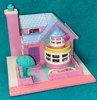 Polly Pocket Bay Window House COMPLETE  Tree dolls Lights up Vintage Pollyville