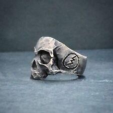 Grateful Dead skull Oxidized Silver ring biker memento mori