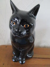 BEAUTIFUL QUAIL POTTERY CERAMIC LARGE BLACK CAT FLOWER VASE  BOXED IDEAL GIFT