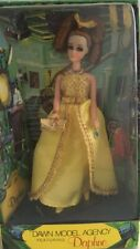 1971 Vtg Dawn Modeling Agency Doll - Daphne - Rare Yellow Gold Outfit! - Mint