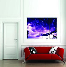 Real Lightning Giant Wall Art New Poster Print Picture