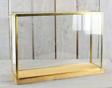 Large Glass and Brass Display Showcase Box Dome with Wooden Base Tall 28.5 cm