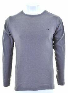 CARRERA Mens Top Long Sleeve Medium Grey Cotton IK01