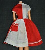 Vintage BARBIE SUZETTE Doll Clone Red White FANCY FREE TYPE DRESS POCKET HTR