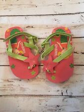 Gymboree CORAL REEF Starfish Flip Flops Sandals - Size 3/4 Girls Mermaid Nwot