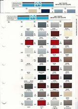 1987 TOYOTA IMPORTED CAR PAINT CHIPS (PPG)