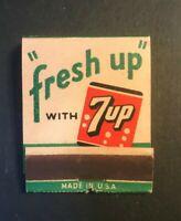Vintage 7up Soda Pop Matchbook Fresh Up ( Never Been Used)