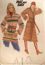 Cut Adult Coat/Jacket Sewing Patterns