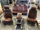 2011-2016 Ford F250 Brown Leather King Ranch Frontrear Seats Wconsole