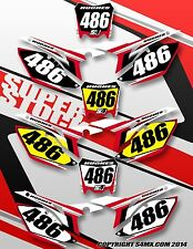 Honda  SuperStock Series  number plates Pre printed backgrounds