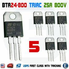 5pcs Bta24 800 Triac Thyristor 25a 800v St Bta24 800bw To 220