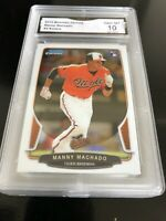 2013 Bowman Chrome Draft Manny Machado  RC #4  Graded 10 💎