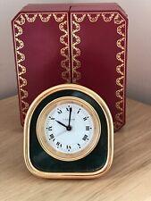 Superb Vintage Must De Cartier 7504 Travel Bedside Desk Alarm Clock & Box