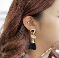 Sexy Ohrringe Ear Rings Gold Schwarz Designer Ohrstecker Asian Style Geschenk