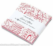 """Moda FABRIC Charm Pack ~ EVER AFTER ~ by Deb Strain  42 - 5"""" squares"""