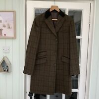 """M & S by """"Moon"""" Yorkshire Tweed 100% Wool Men's Coat Size M/L Brand New RRP £225"""