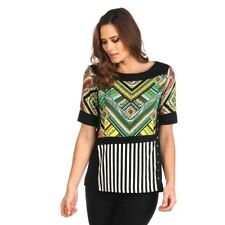 CLARITY Printed Jersy Geo Top Size L Brand NEW Rp$79.95