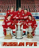 1997 Detroit Red Wings Stanley Cup & Russian Five Color Picture 16 X 20  Poster