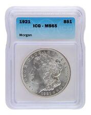 1921 Silver Morgan Dollar ICG MS65 Lot of 1