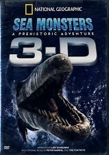 NEW  DVD // NATIONAL GEOGRAPHIC // 3D SEA MONSTERS // 3D + 2D FORMATS+ GLASSES