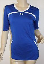 Women's UNDER ARMOUR *NWT* Elevate ½ Sleeve Volleyball Jersey Blue ~ MEDIUM