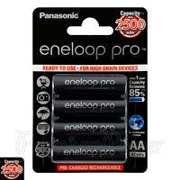 4 x Panasonic Eneloop PRO AA batteries 2500mAh Rechargeable High capacity Ni-MH