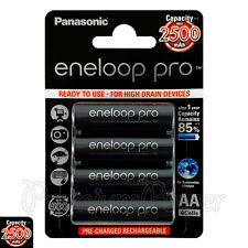 4 x Panasonic Eneloop PRO AA batteries 2500mAh Rechargeable High capacity Ni-MH