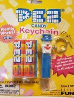 *Vintage* 1999 Basic Fun Pez Dispenser Keychain -Blue CLOWN New item #931-0