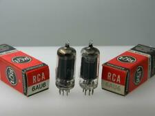 """Strong Pair RCA 6AU6 """"Square Tops"""" Sweetest Warm Gravy Tone Serious Tubes J425"""