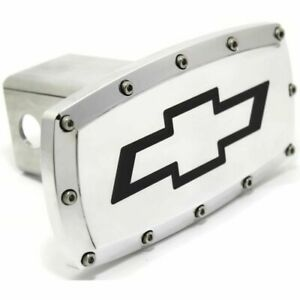 "Chevrolet Logo Billet 2"" Tow Hitch Cover Plug Engraved Billet Aluminum"