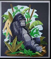 """Gorilla, Mountain Gorilla, Monkey, Embroidered Patch 6.9""""x 8.1"""""""