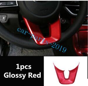 New Glossy Red Inner Steering Wheel Decor Cover Trim For Kia Optima K5 2019 2020
