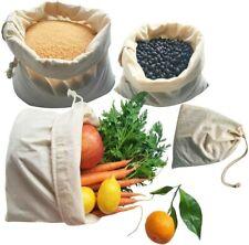 NIB! Buzzee Organic Reusable Cotton Produce Bags 4 Pack Cotton Shopping Bags