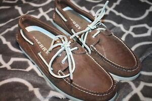 Sperry Top-Sider A/O 2-Eye Mens Sand Boat Shoes Size 10 M FREE SHIP