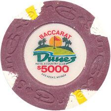 Vintage Dunes Obsolete Casino $5000 House Mold 1980s Baccarat Paulson Chip Vegas