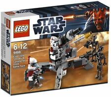 "LEGO 9488 ""ELITE CLONE TROOPER & COMMANDOS"" Arf Arc Droid Minifigures New Box"