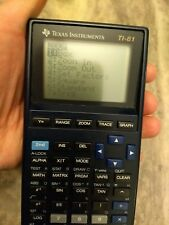 Texas Instruments Ti-81 Graphics Calculator Pre-owned tested works.
