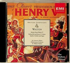 Walton Conducts: Scenes Henry V/Richard III Suites/Spitfire- Laurence Olivier CD