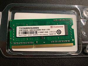 Transcend TS256MSK64W6N 2 GB 2GB (DDR3-1600) DDR3L SDRAM 1600 MHz SO DIMM 1.35 V