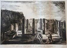 PIRANESE : Gravure dessinée par J.B. PIRANESI ,gravée par F. PIRANESI. 1805 (10)